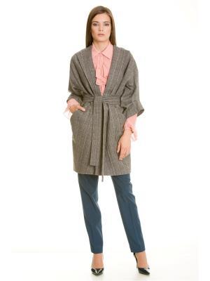 Пальто Tsurpal. Цвет: серый, темно-серый