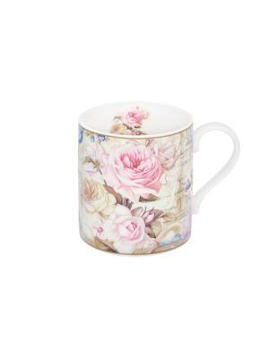 Кружка - подарок Нежные розы Elan Gallery. Цвет: розовый, бежевый, белый