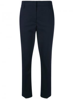 Укороченные классические брюки Dorothee Schumacher. Цвет: синий