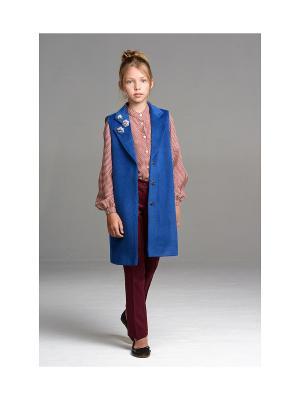 Удлиненный жилет MORU. Цвет: синий