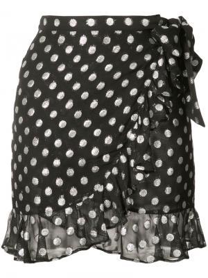 Юбка в горошек с оборками Dodo Bar Or. Цвет: чёрный
