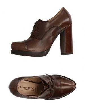 Обувь на шнурках ELIANA BUCCI. Цвет: темно-коричневый