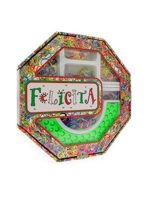 FELICITA. Развивающий набор для плетения браслетов из резиночек (4-1) АНДАНТЕ. Цвет: синий, зеленый, красный