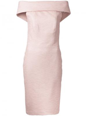 Платье First Blush с открытыми плечами Manning Cartell. Цвет: розовый и фиолетовый