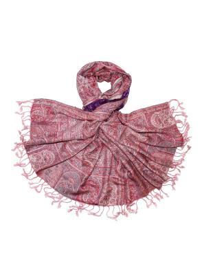 Палантин Ethnica. Цвет: темно-фиолетовый, розовый
