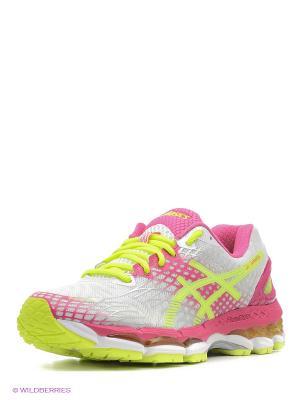Беговые кроссовки GEL-NIMBUS 17 ASICS. Цвет: розовый, белый