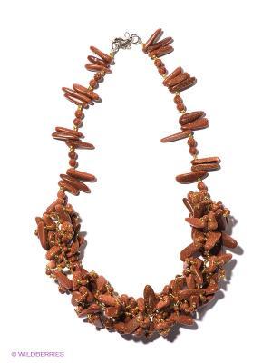 Колье Migura. Цвет: коричневый, серебристый, золотистый