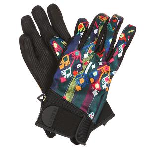Перчатки сноубордические женские  Wb Park Glv Mayan Motif Burton. Цвет: мультиколор