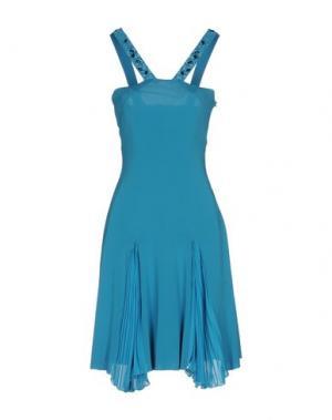 Короткое платье MARTA PALMIERI. Цвет: лазурный