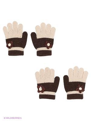 Перчатки (2 пары) FOMAS. Цвет: бежевый, темно-коричневый