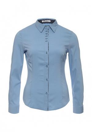 Рубашка Pinkline. Цвет: голубой