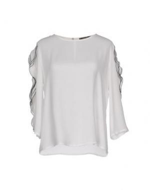 Блузка TRY ME. Цвет: белый