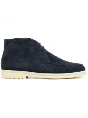 Ботинки-дезерты Loro Piana. Цвет: синий