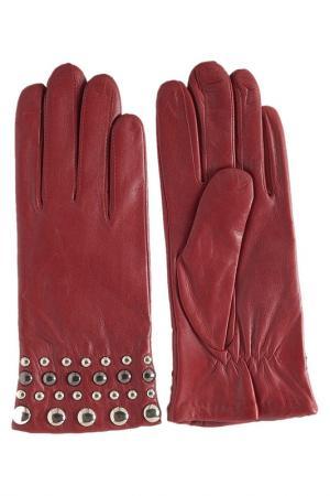 Перчатки GLOVE STORY. Цвет: красный