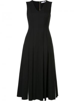 Плиссированное платье Vionnet. Цвет: чёрный