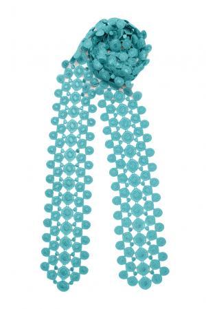 Кружевной шарф 143357 Plauener Spitze. Цвет: синий
