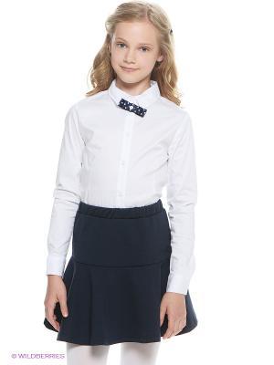 Блузка Button Blue. Цвет: белый