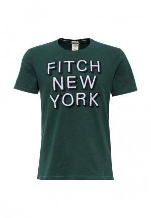 Футболка Abercrombie & Fitch. Цвет: зеленый