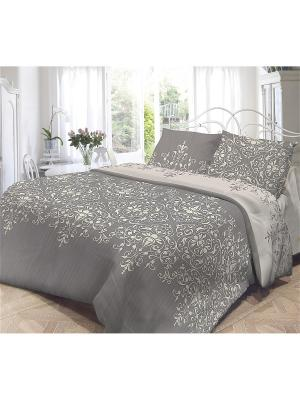 Комплект постельного белья семейный, НЕЖНОСТЬ, поплин 70*70см, Виолетта Волшебная ночь. Цвет: коричневый, бежевый