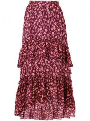 Floral pleated skirt Ulla Johnson. Цвет: красный
