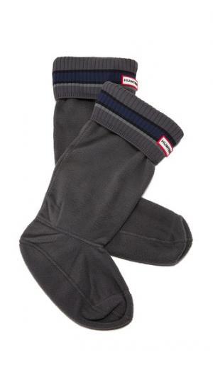 Носки под ботинки Buoy в полоску Hunter Boots. Цвет: серый/черный