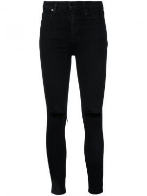 Узкие джинсы с прорезами на коленях Nobody Denim. Цвет: чёрный
