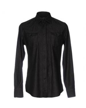 Джинсовая рубашка DOLCE & GABBANA. Цвет: стальной серый