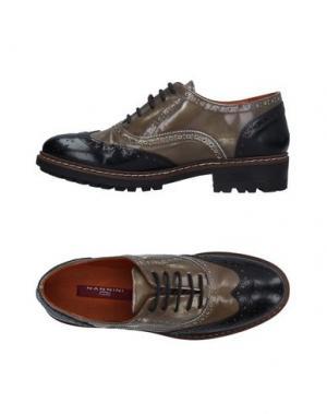 Обувь на шнурках NANNINI. Цвет: хаки