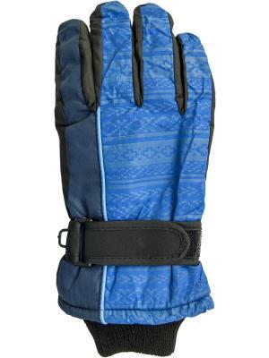 Перчатки YO!. Цвет: лазурный, голубой