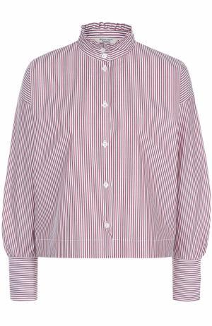 Блуза свободного кроя в клетку Atlantique Ascoli. Цвет: красный