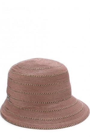 Шляпа с контрастной отделкой Eric Javits. Цвет: светло-розовый