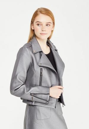 Куртка кожаная Demurya Collection. Цвет: серебряный