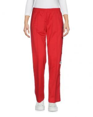 Повседневные брюки HISTORY. Цвет: красный