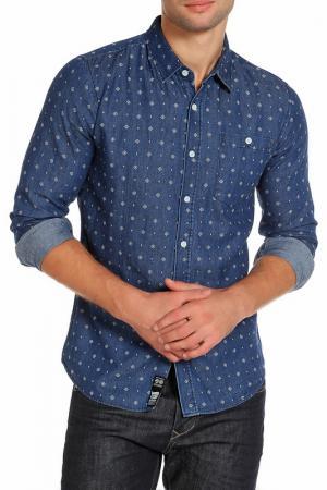 Рубашка CROSSHATCH. Цвет: denim blue