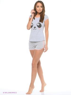 Комплект одежды Mark Formelle. Цвет: серый, персиковый, белый, черный