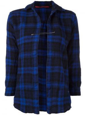 Рубашка с булавкой Daniela Gregis. Цвет: синий