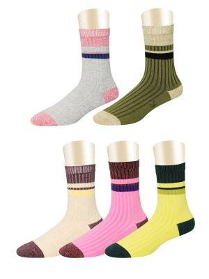 Носки, 5 пар Glamuriki. Цвет: серый, желтый, розовый