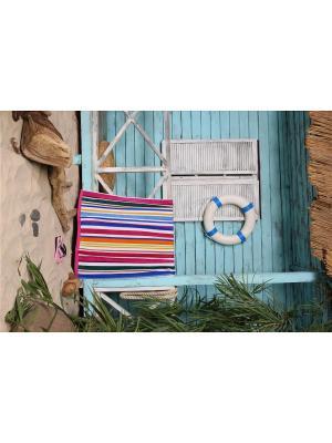Полотенце пляжное Полосы 90*170 цв. мультиколор TOALLA. Цвет: синий