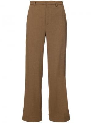 Классические брюки Tome. Цвет: коричневый