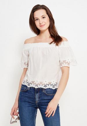 Блуза Only. Цвет: белый
