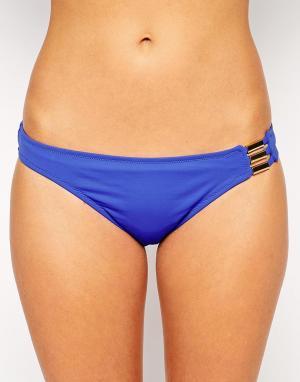 Huit Плавки бикини с заниженной талией Allure. Цвет: синий
