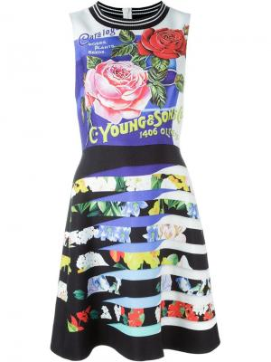 Платье шифт Liyali Mary Katrantzou. Цвет: чёрный