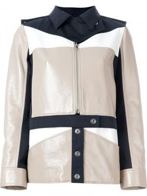 Куртка в стиле милитари Courrèges. Цвет: многоцветный