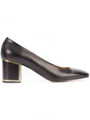 Туфли на массивном каблуке Veronique Branquinho. Цвет: синий