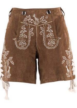 Кожаные шорты (светло-коричневый) bonprix. Цвет: светло-коричневый