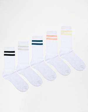 Urban Eccentric 5 пары спортивных носков. Цвет: мульти