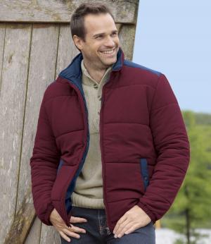 Стеганая Куртка AFM. Цвет: бордовыи