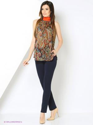 Блузка MIRNAЯ KONTORA. Цвет: темно-коричневый