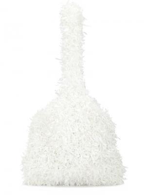 Трикотажный клатч Xiao Li. Цвет: белый