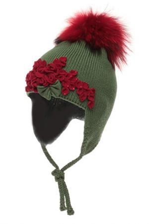 Шапка Joli Bebe. Цвет: зеленый